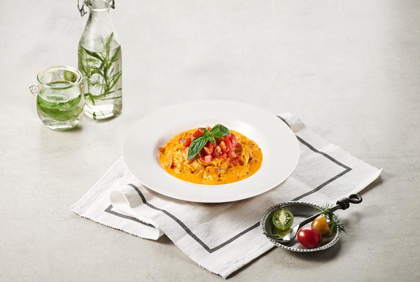 Tomato Rose Carbonara