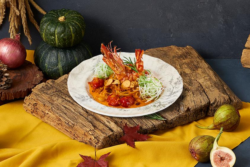 King Prawn Spicy Autumn Pasta (킹 프라운 스파이시 어텀 파스타)