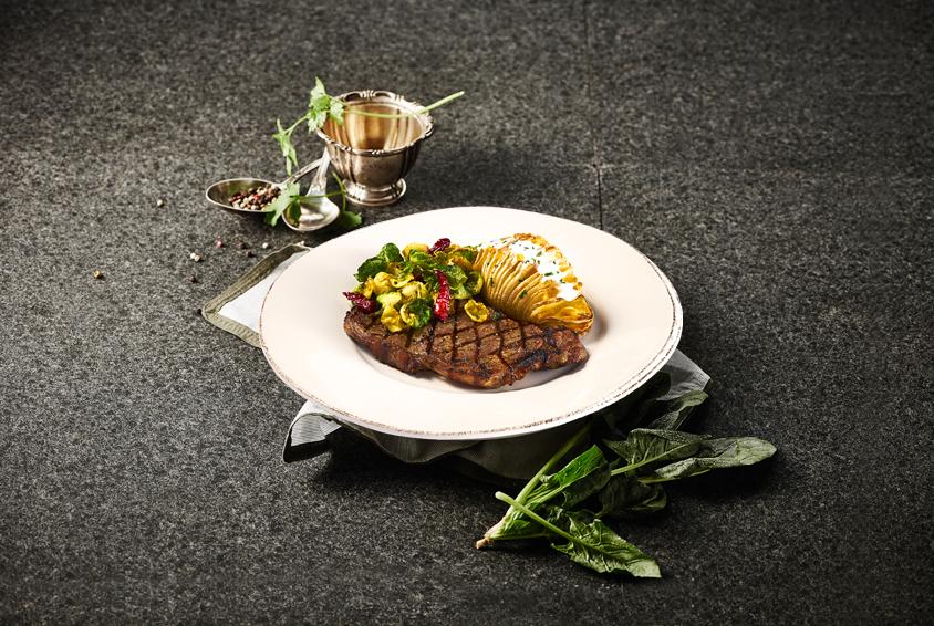 Brussels sprouts & Tornado Striploin Steak(브뤼셀 스프라우트 & 토네이도 채끝 스테이크)