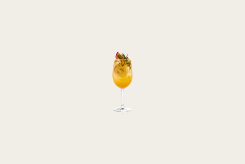 Sunshine Yellow Passion Fruit Wine Cooler