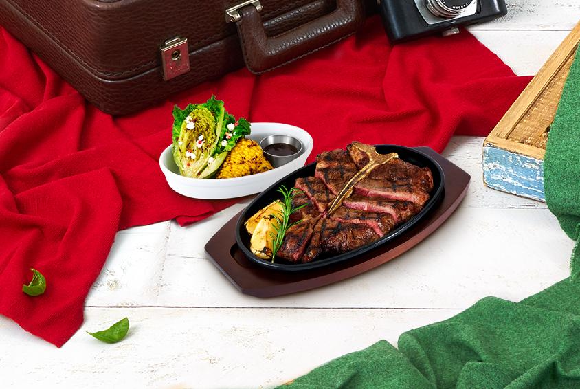 티본 스테이크 & 그릴드 베지터블(T-Bone Steak & Grilled Vegetable)
