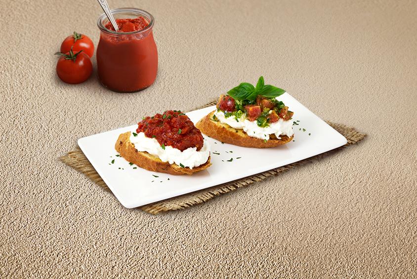 Garlic Cheese Crostini