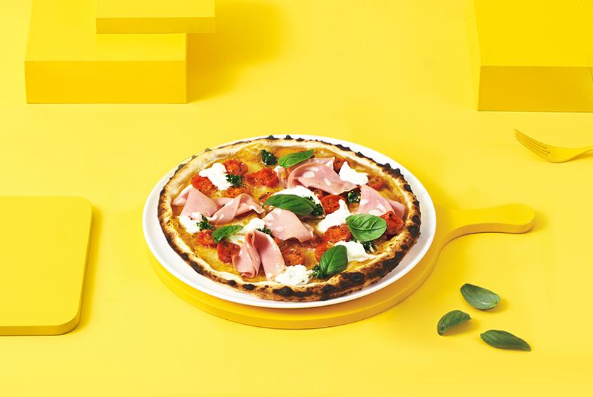 골든 바질 부라타 피자(Golden Basil Burrata Pizza)