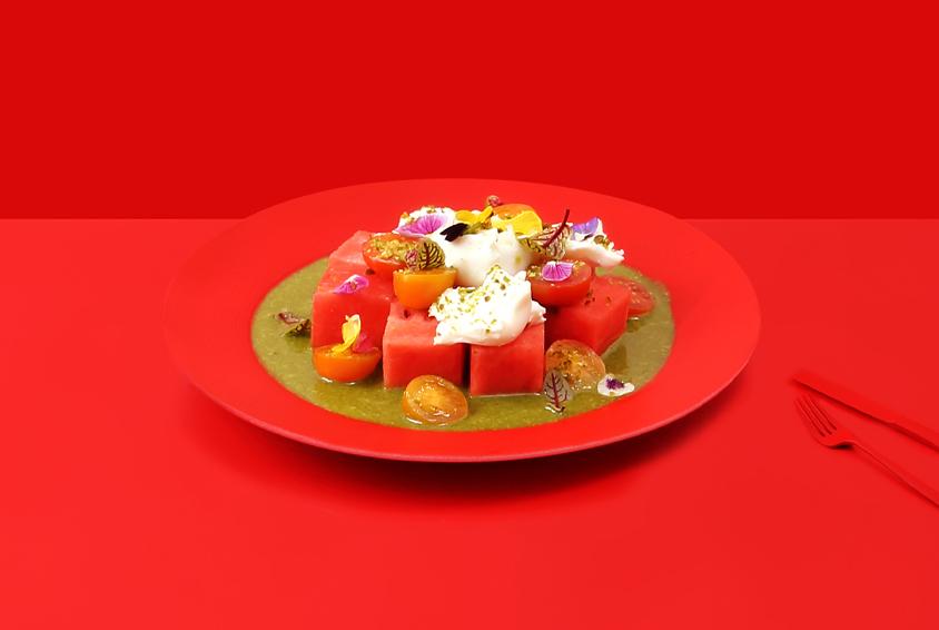 Watermelon & Buratta Cheese Salad
