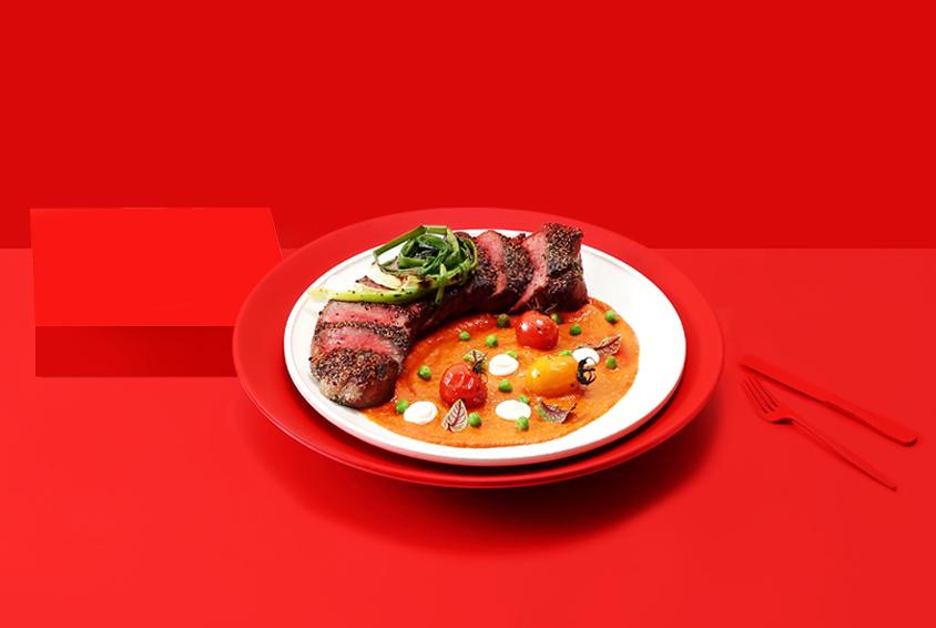 Summer Garden Romesco Steak