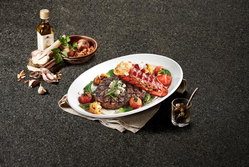 Ribeye Steak & Riso Lobster